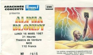 Alpha Blondy mars 1987