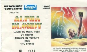 Alpha Blondy mars 1987