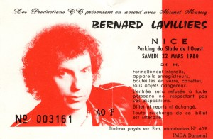 Bernard Lavilliers mars 1980