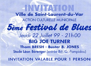Big Joe Turner juillet 1999