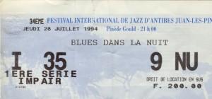 Blues dans la nuit juillet 1994