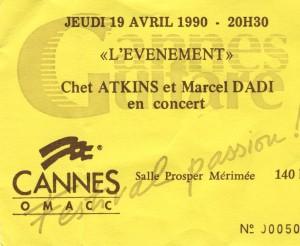 Chet Atkins et Marcel Dadi avril 1990