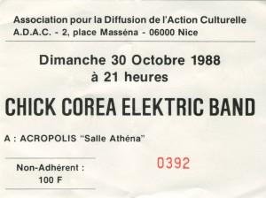 Chick Corea octobre 1988