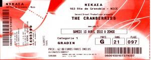 Cranberries avril 2010