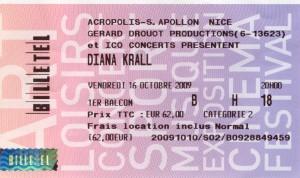 Diana Krall octobre 2009