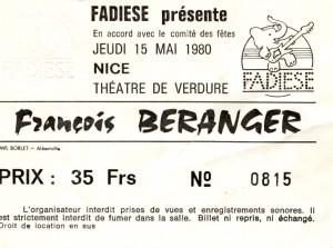 Francois Beranger mai 1980