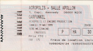 Garfunkel mai 1999