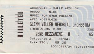 Glenn Miller janvier 2001