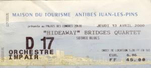 Hideaway avril 2000