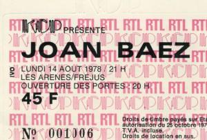 Joan Baez août 1978