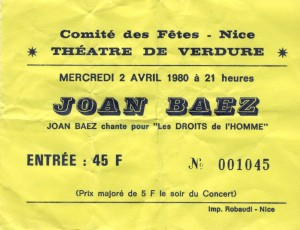 Joan Baez avril 1980