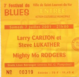 Larry Carlton juillet 2001