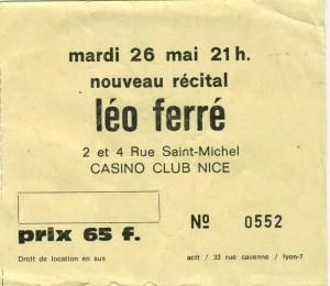 Léo Ferré mai xxxx