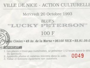 Lucky Peterson octobre 1993