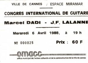 Marcel Dadi et JF Lalanne avril 1988