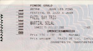 Martial Solal juillet 2000