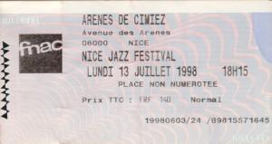 Nice Jazz Festival juillet 1998