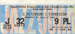 Oscar Peterson et Jacky Terrasson juillet 1996