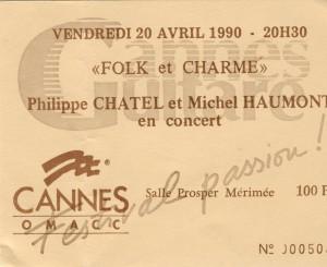 Philippe Chatel et Michel Haumont avril 1990