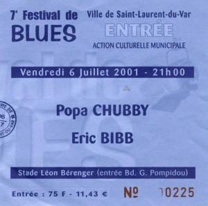 Popa Chubby juillet 2001