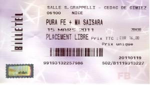 Pura Fé Nice Mars 2011