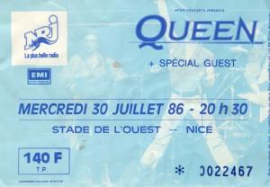 Queen juillet 1986
