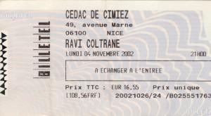 Ravi Coltrane novembre 2002