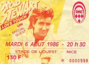 Rod Stewart aout 1986