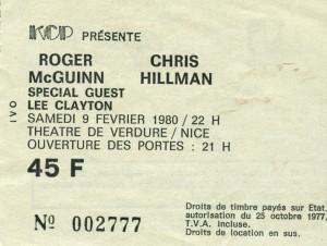 Roger McGuinn eet Chris Hillman fevrier 1980