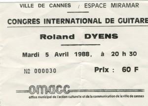 Roland Dyens avril 1988