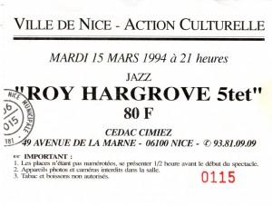 Roy Hargrove mars 1994