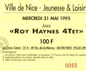 Roy Haynes mai 1995