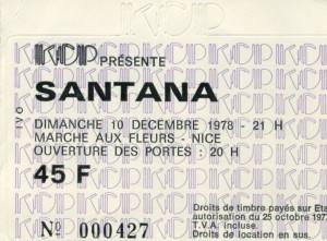 Santana décembre 1978