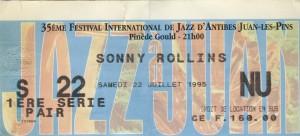 Sonny Rollins juillet 1995