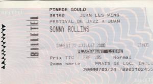 Sonny Rollins juillet 2000