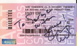 Stacey Kent 6 décembre Nice