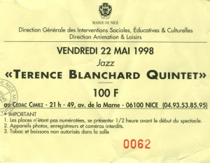 Terence Blanchard Quintet mai 1998