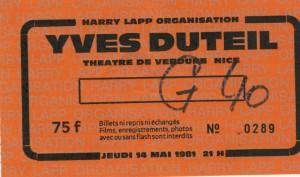 Yves Duteil mai 1981