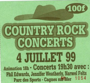 country rock juillet 1999
